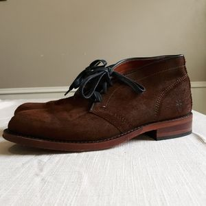 Frye leather lace up boots